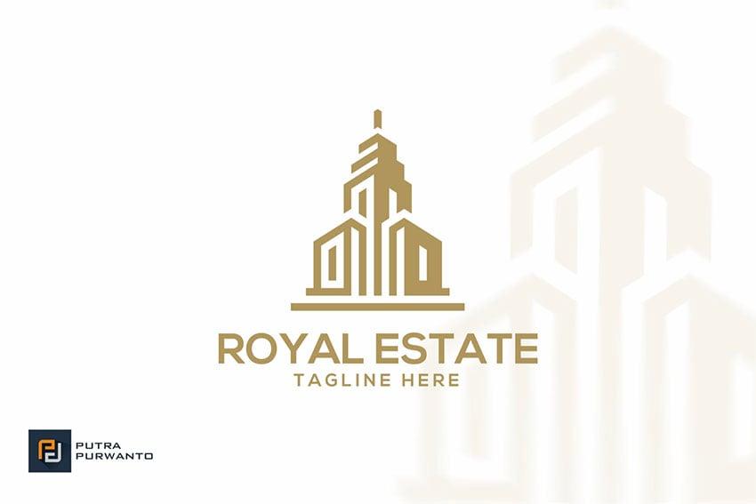 Royal Estate - Realtor Logo Idea Template