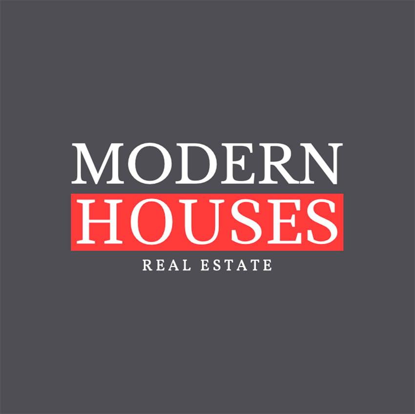 Logo Design Template for Modern House Real Estate