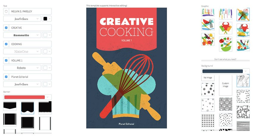 Book Cover Maker for Creative Cooking