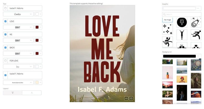 Book Cover Maker for Romantic Novels