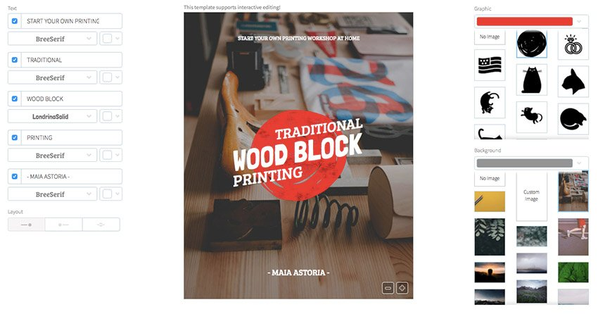 Book Cover Maker - Centered Text with Custom Laying