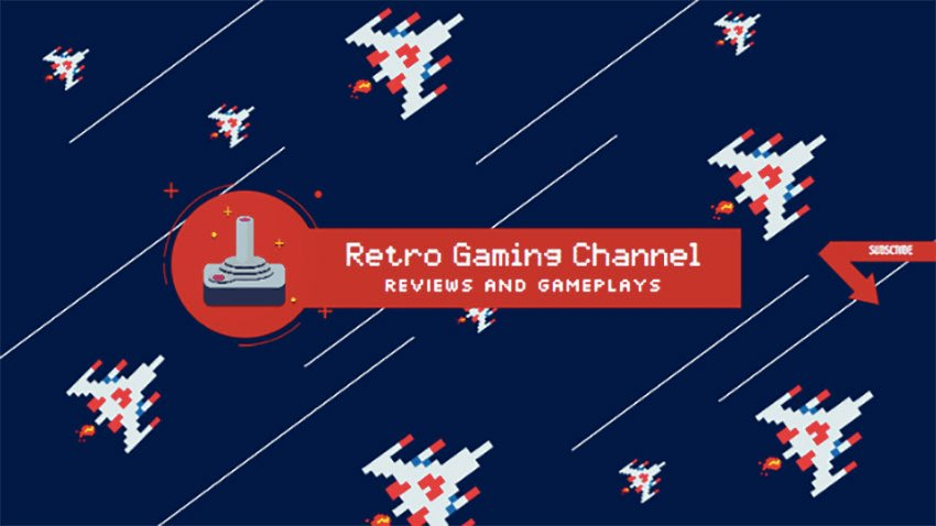 Banner Design Template for Retro Gaming Channel