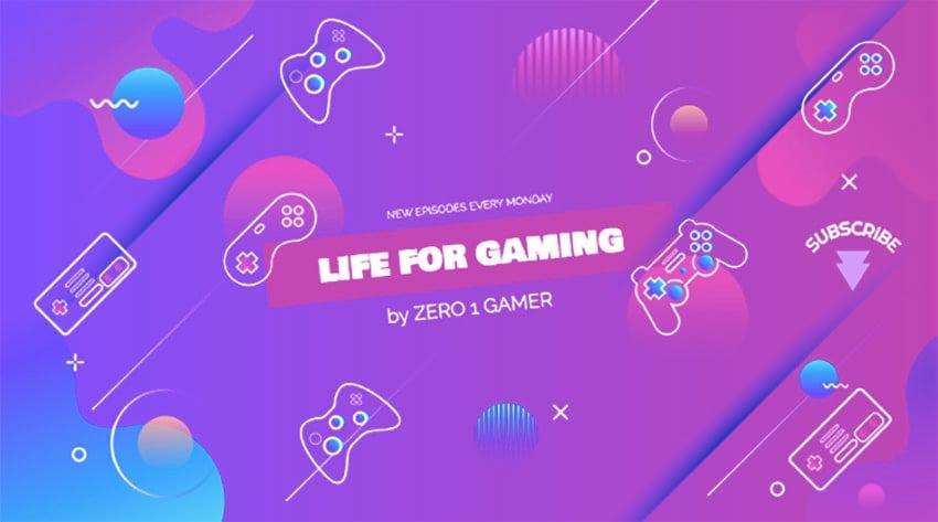 Gaming Vlogger Channel Banner Maker