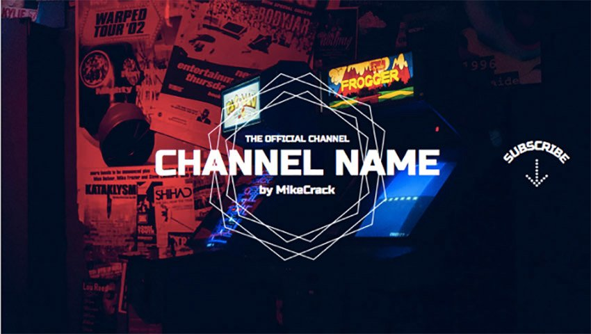 YouTube Banner Template to Make YouTube Channel Art Gaming