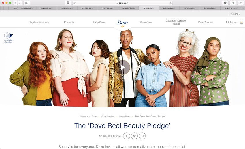 Doves ad campaigns