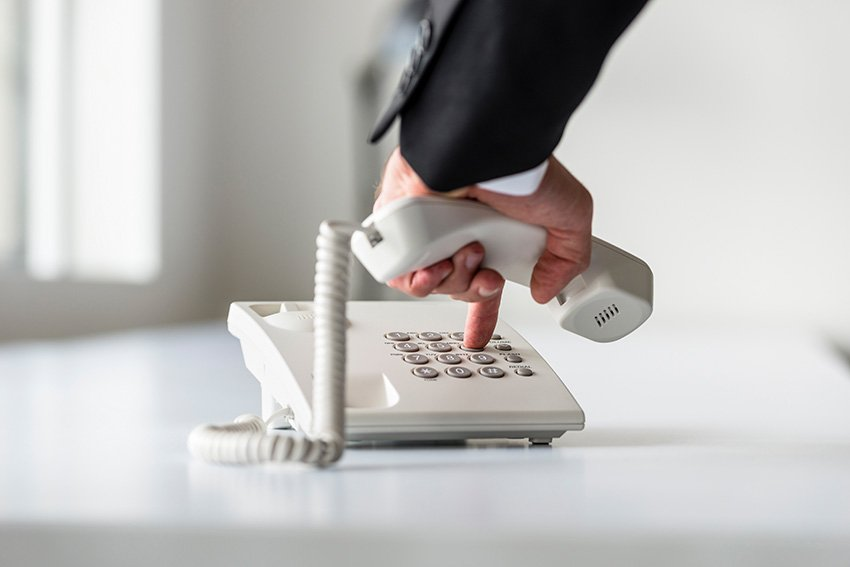 Hand Dialling a Number