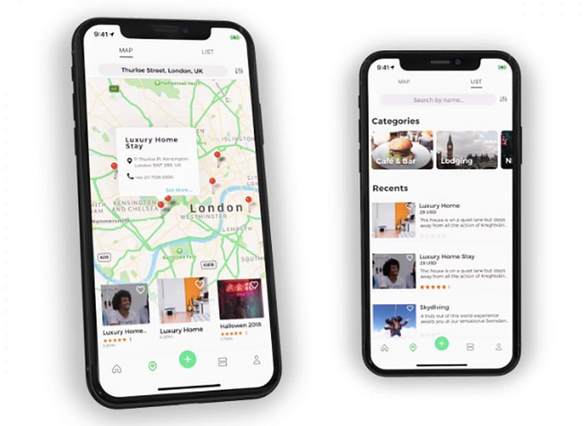 ListApp React Native App Layout