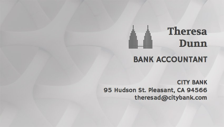 Business Card Maker for Accountants