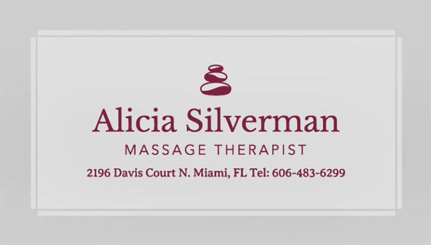 Physiotherapist Business Card Template