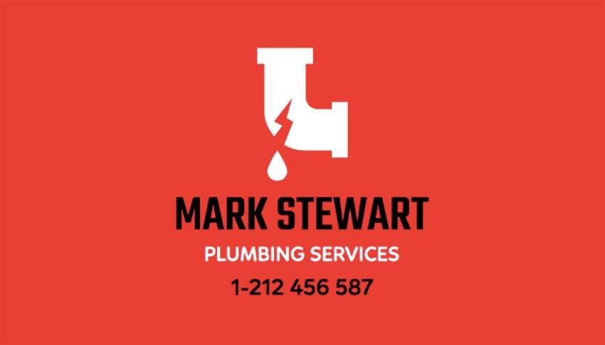 Plumbing Services Business Card Generator