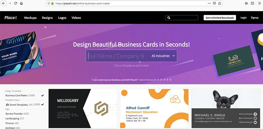 Business Card Maker at Placeit