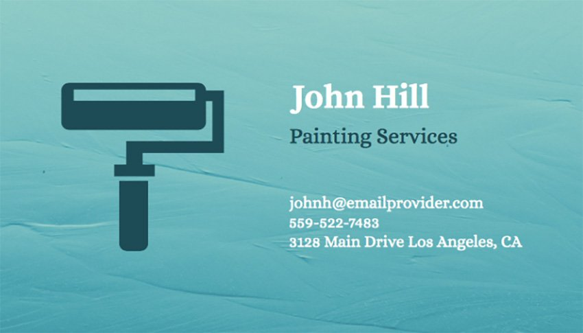 Business Card Maker for Painting Services