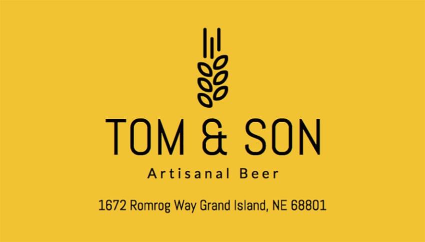 Business Card Maker for an Artisinal Beer