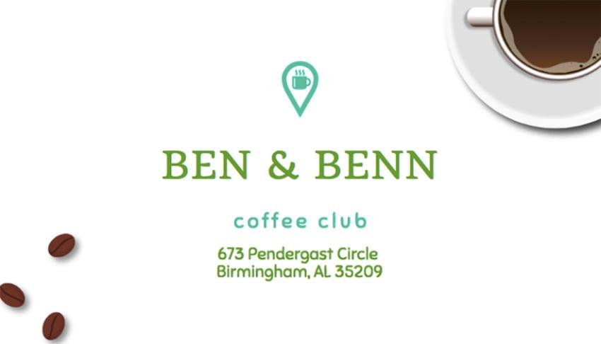 Coffee Club Business Card Creator