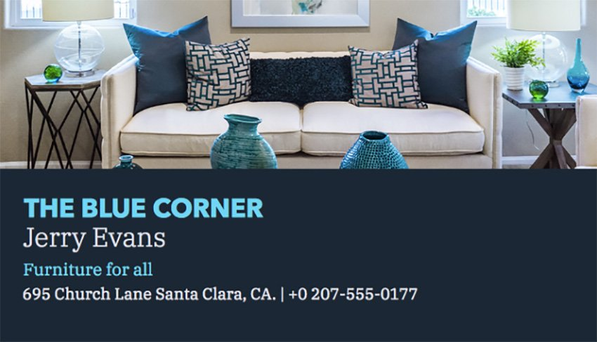 Furniture Business Card Maker