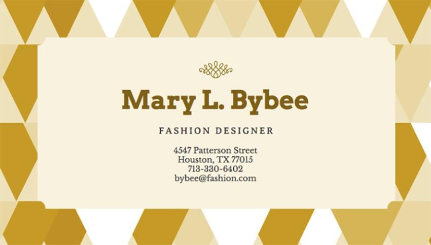 Modern Business Card Maker for Fashion Designers