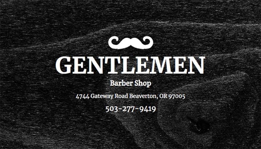 Online Business Card Maker for Gentlemen Barber Shop