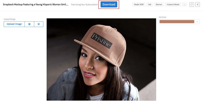 Download Your Hat Mockup