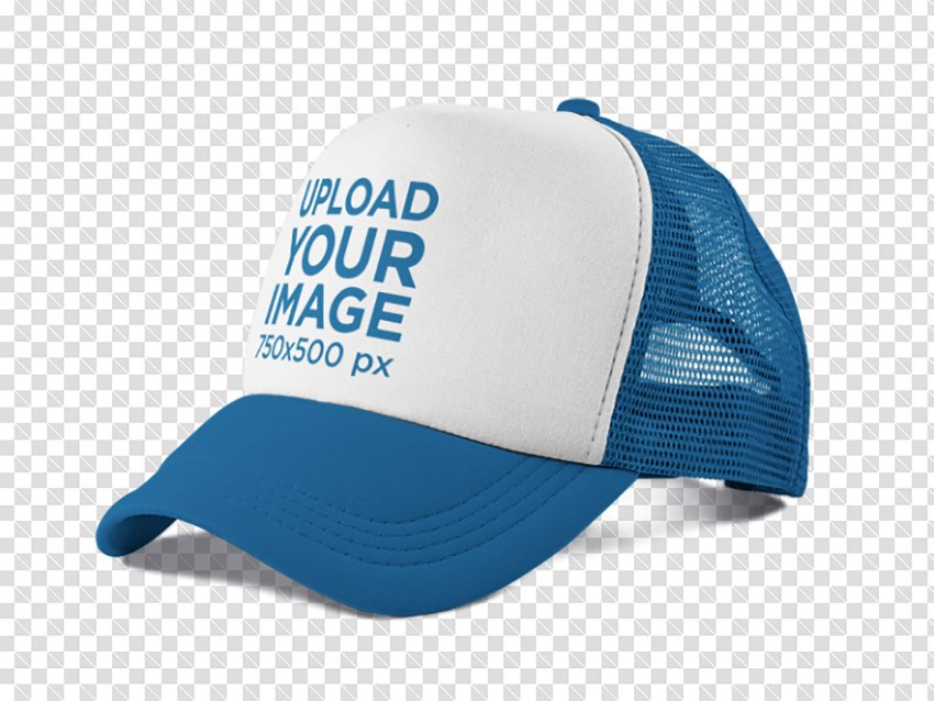 Side View of a Trucker Hat PNG Mockup