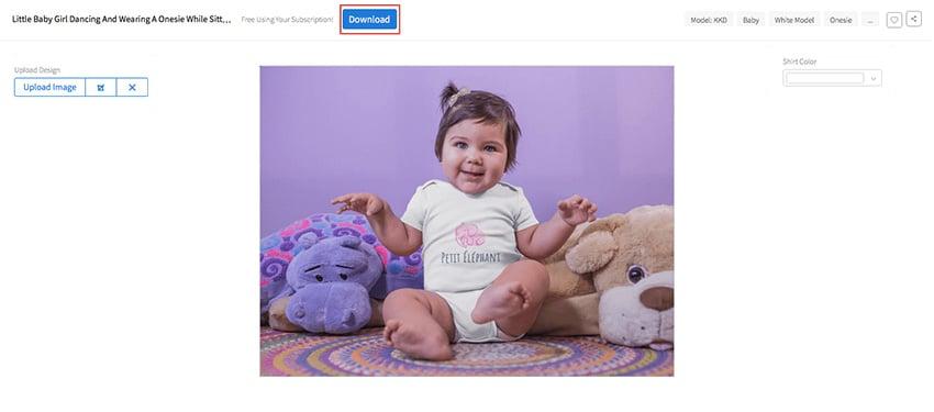 Download Your Baby Onesie Mockup
