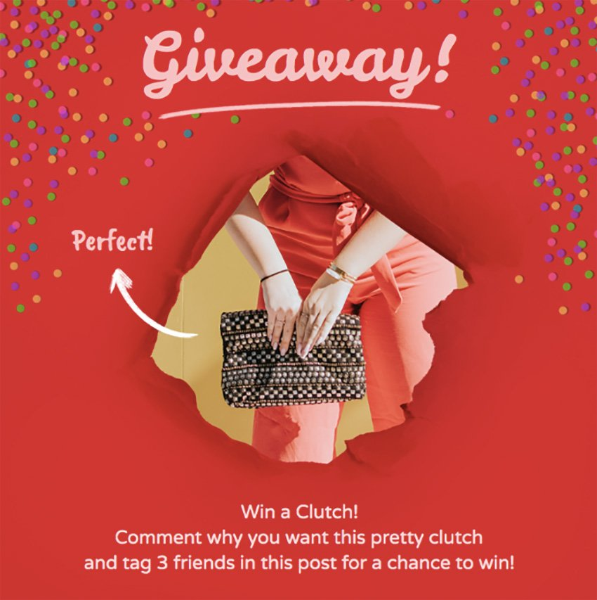 Accessory Giveaway Insta Post Template