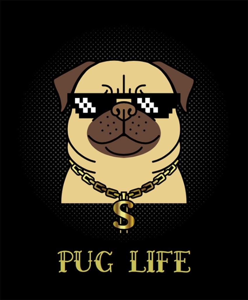Dog T-Shirt Design Maker with Thug Pug