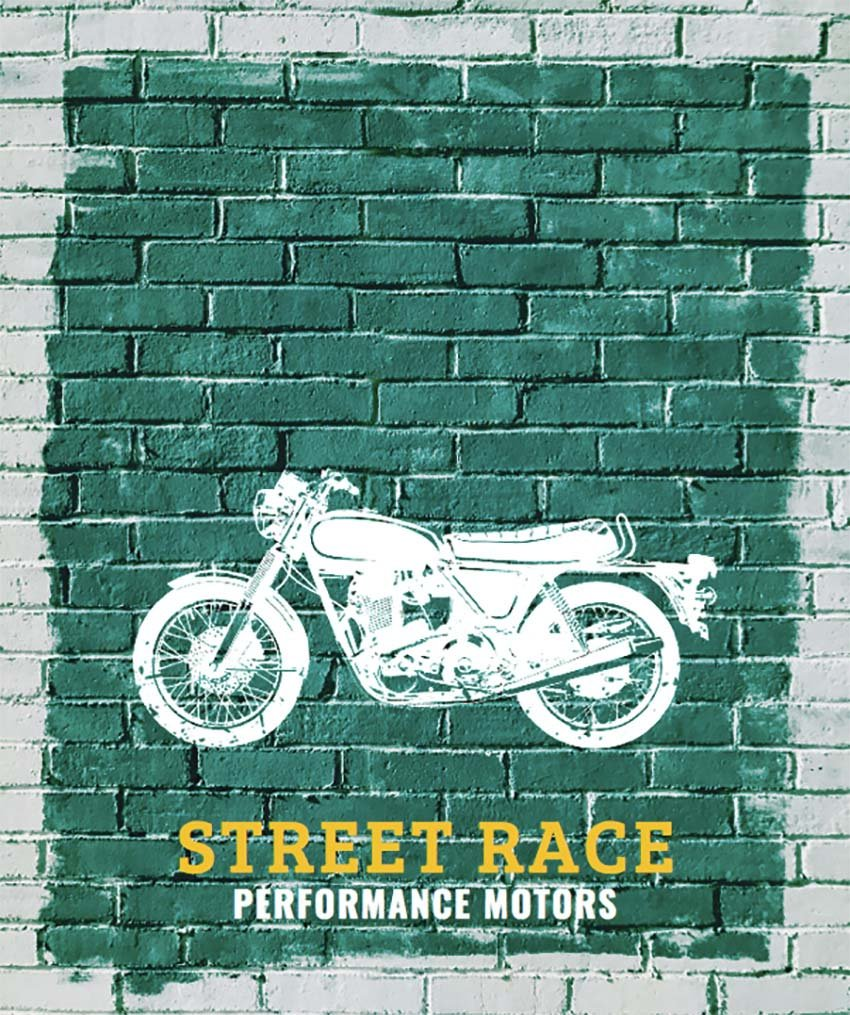 Grafitti Inspired Vintage Biker T-Shirt Design Maker