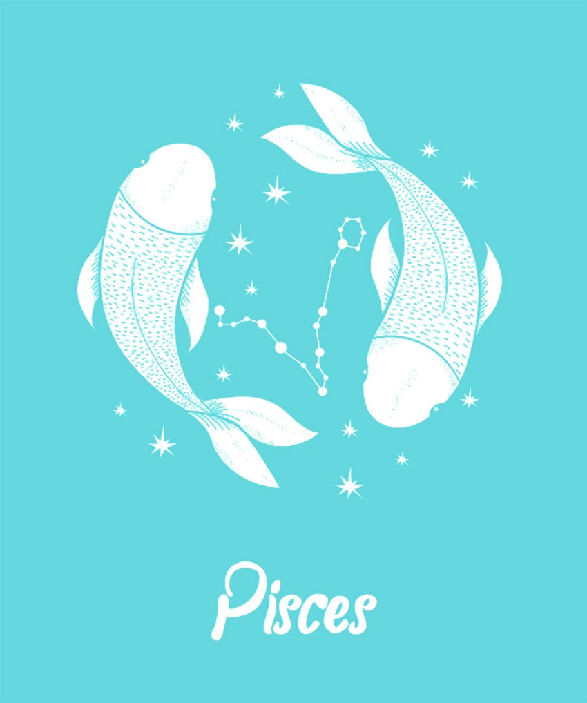T-Shirt Design Template for Pisces