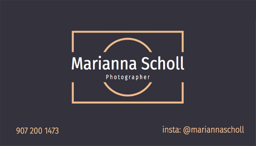 Business Card Template for Photographers