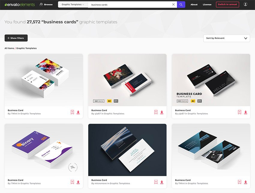 Envato Elements InDesign Business Card Templates