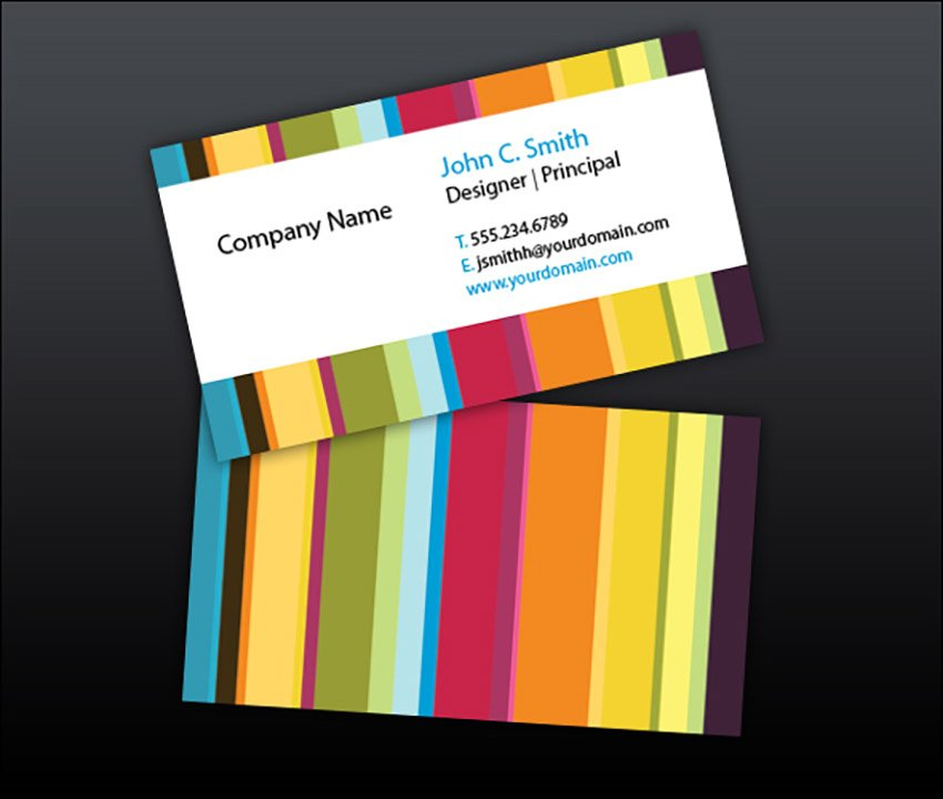 Colorful striped Business Card