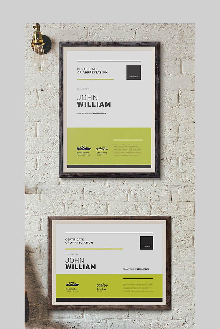 Modern Certificate 05