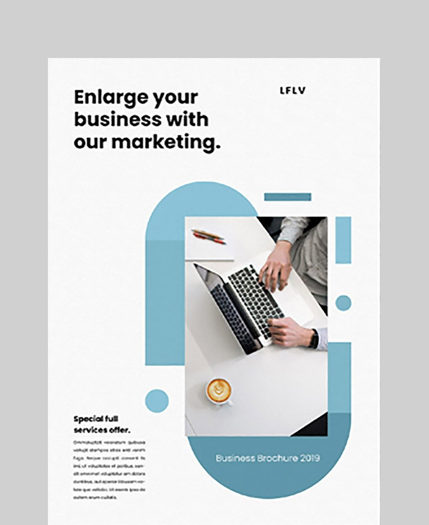 Blue and White Brochure