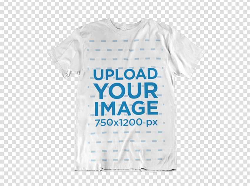 Clothing Mockup of a T-Shirt Over a Flat Backdrop
