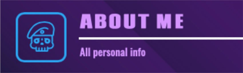 About Me Twitch Panel Templates