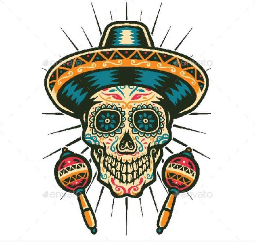 Mexican Sugar Skull
