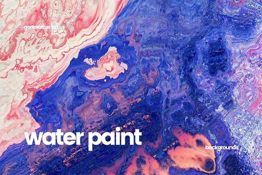Abstract Water Painting Textures