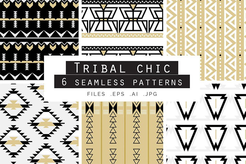 Tribal Chic Seamless Vector Patterns