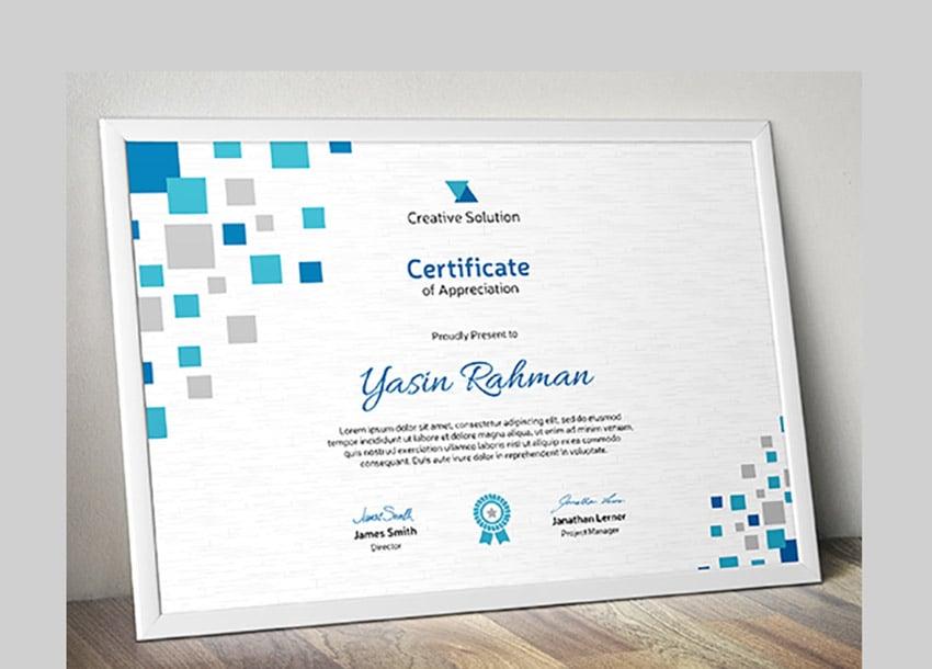 Squares Certificate