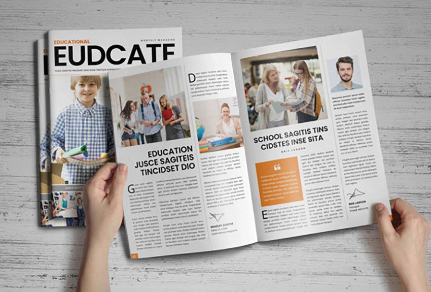 Education Magazine Template