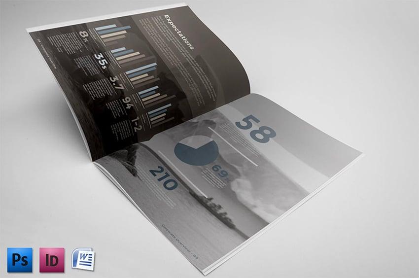 Corporate Brochure Report Template