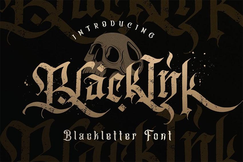 Blackletter Metal Lettering Font