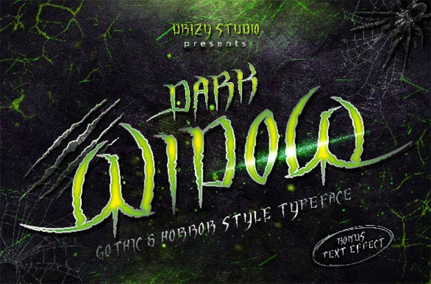 Death metal font