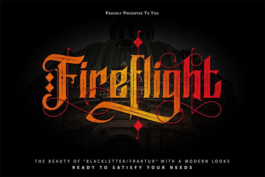 Fireflight Metalcore Font