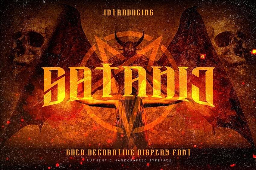 Satanic Black Metal Font