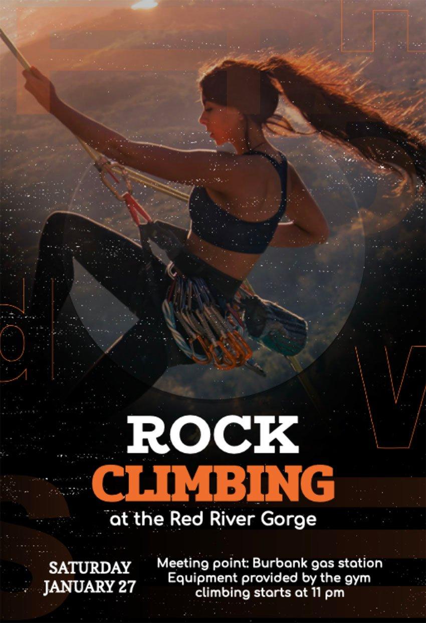 Online Flyer Maker for Rock Climbing