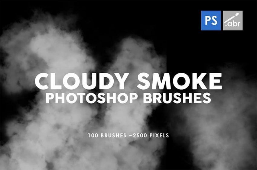100 Cloudy Smoke Photoshop Stamp Brushes