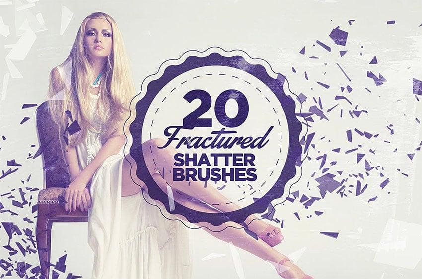 20 Fractured Shatter Brushes