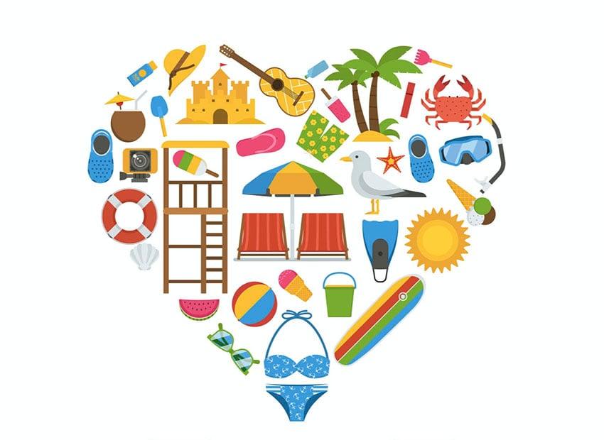 Love Summer Heart Clip Art