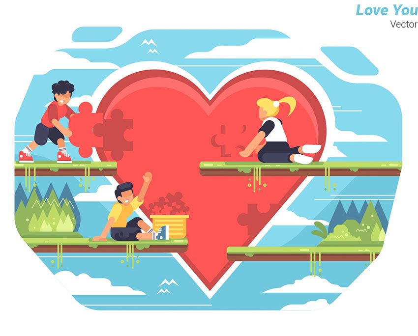 Love Your Heart - Red Heart Vector Illustration
